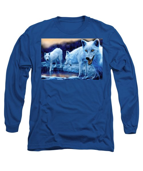 Arctic White Wolves Long Sleeve T-Shirt