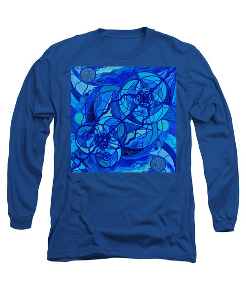 Arcturian Calming Grid Long Sleeve T-Shirt