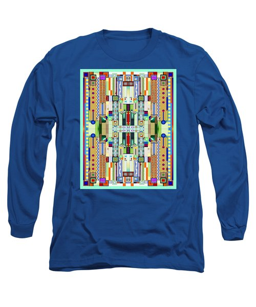 Art Deco Stained Glass 2 Long Sleeve T-Shirt