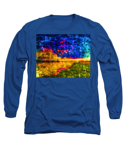 Long Sleeve T-Shirt featuring the painting As The World Ends by Joe Misrasi