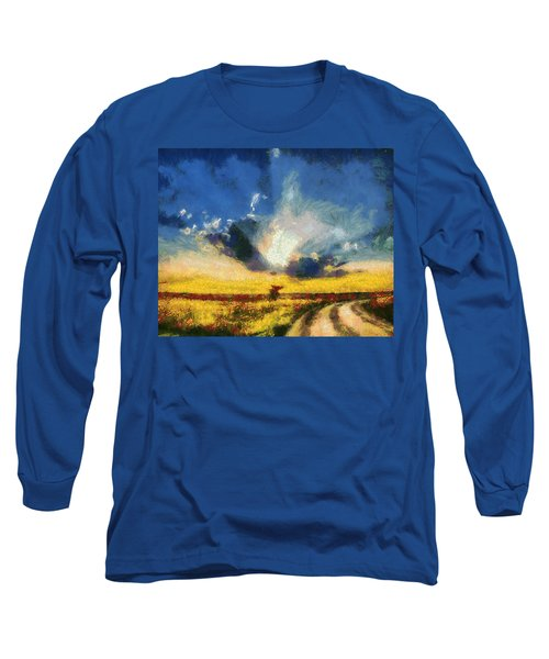 Long Sleeve T-Shirt featuring the painting Back To Goodbye by Joe Misrasi
