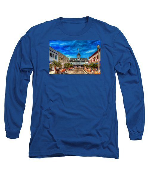 Long Sleeve T-Shirt featuring the photograph Balboa Pavilion by Jim Carrell