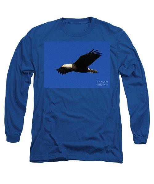 Bald Eagle Lock 14 Long Sleeve T-Shirt by Paula Guttilla