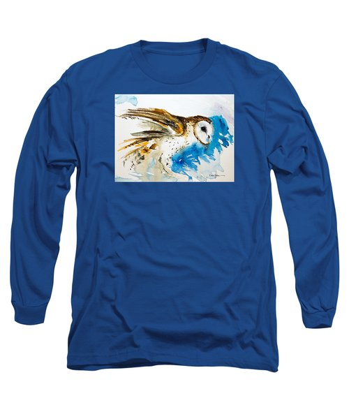 Da145 Barn Owl Ruffled Daniel Adams Long Sleeve T-Shirt