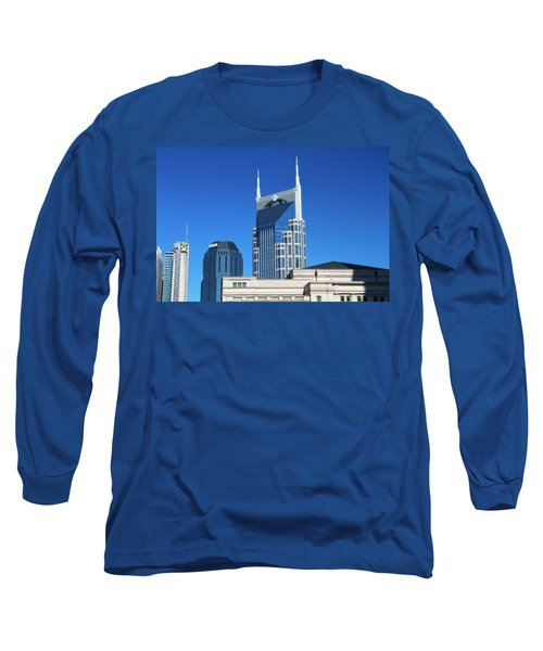 Batman Building And Nashville Skyline Long Sleeve T-Shirt
