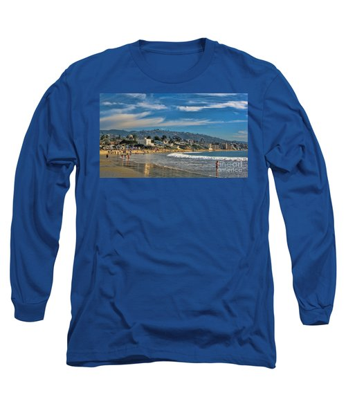 Long Sleeve T-Shirt featuring the photograph Beach Fun by Tammy Espino