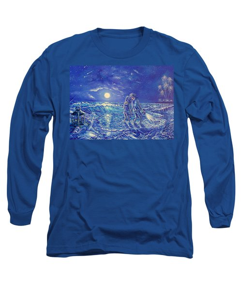 Beach Lites Long Sleeve T-Shirt by Gail Butler