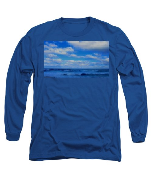 Beach Through Artificial Eyes Long Sleeve T-Shirt
