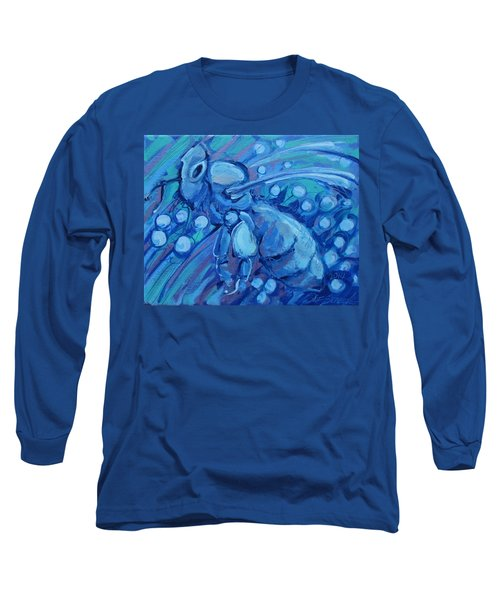 Bee Blue Long Sleeve T-Shirt
