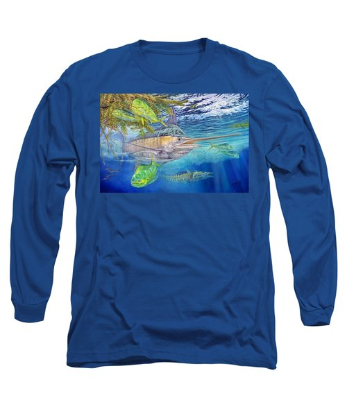 Big Blue Hunting In The Weeds Long Sleeve T-Shirt