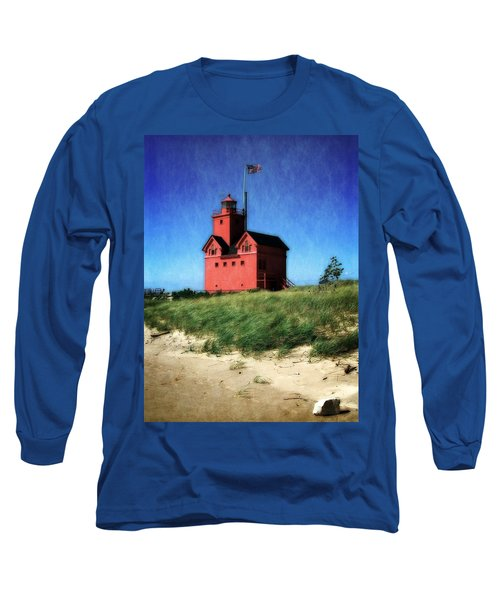 Big Red With Flag Long Sleeve T-Shirt