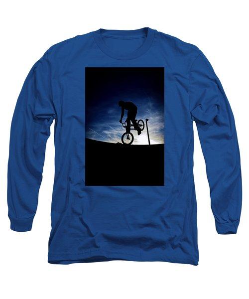 Bike Silhouette Long Sleeve T-Shirt by Joel Loftus