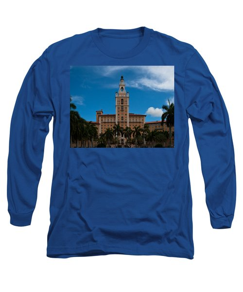 Biltmore Hotel Coral Gables Long Sleeve T-Shirt by Ed Gleichman