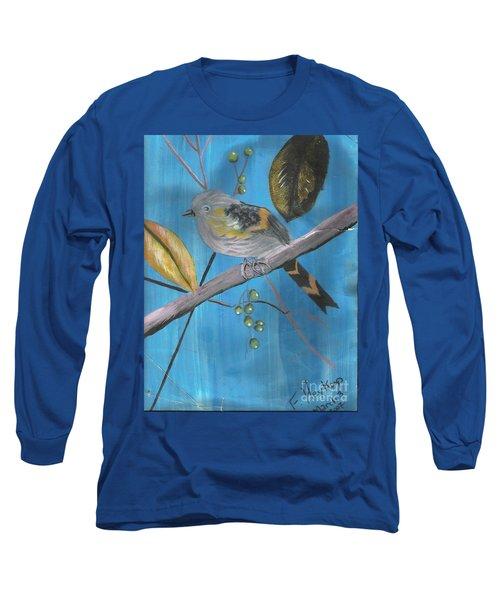 Bird On A Branch  Long Sleeve T-Shirt by Francine Heykoop