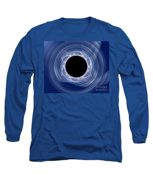 Long Sleeve T-Shirt featuring the digital art Black Hole by Victoria Harrington