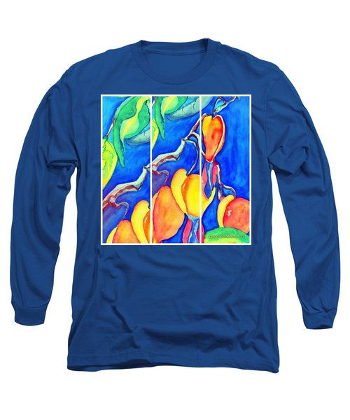 Bleeding Hearts Tryptic - Digital Artwork From Original Watercolor Painting Long Sleeve T-Shirt