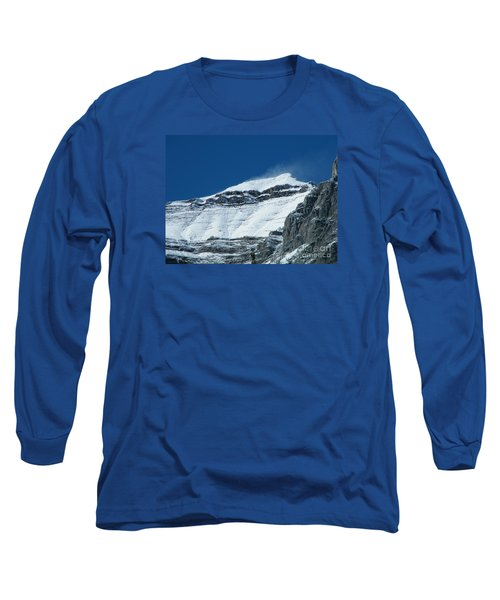 Long Sleeve T-Shirt featuring the photograph Blowing Snow by Ann E Robson