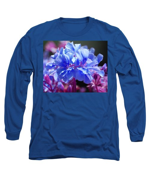 Long Sleeve T-Shirt featuring the photograph Blue And Purple Flowers by Matt Harang