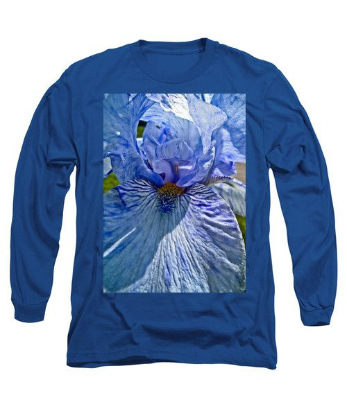 Blue Bearded Iris Long Sleeve T-Shirt