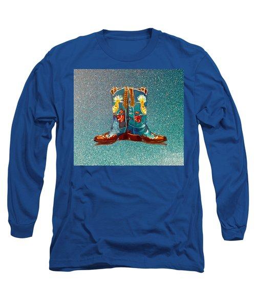 Blue Boots Long Sleeve T-Shirt by Mayhem Mediums