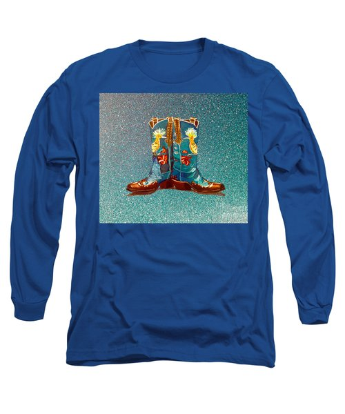 Blue Boots Long Sleeve T-Shirt