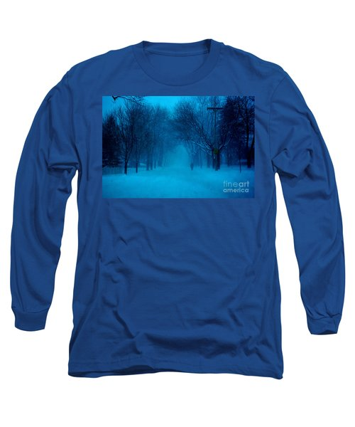 Blue Chicago Blizzard  Long Sleeve T-Shirt