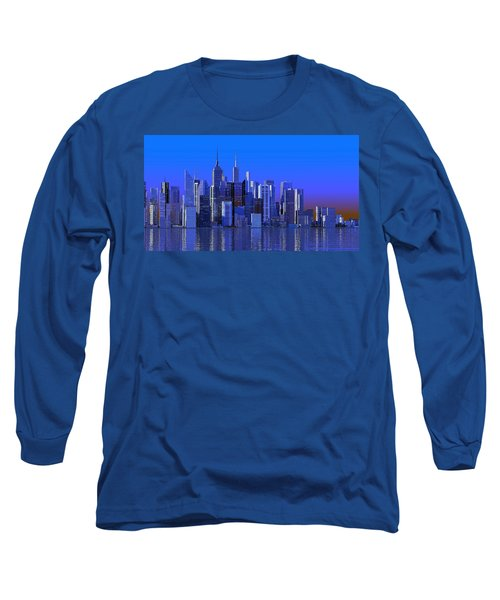 Chicago Blue City Long Sleeve T-Shirt