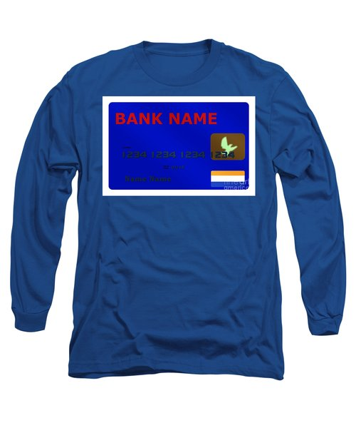 Blue Credit Card Long Sleeve T-Shirt