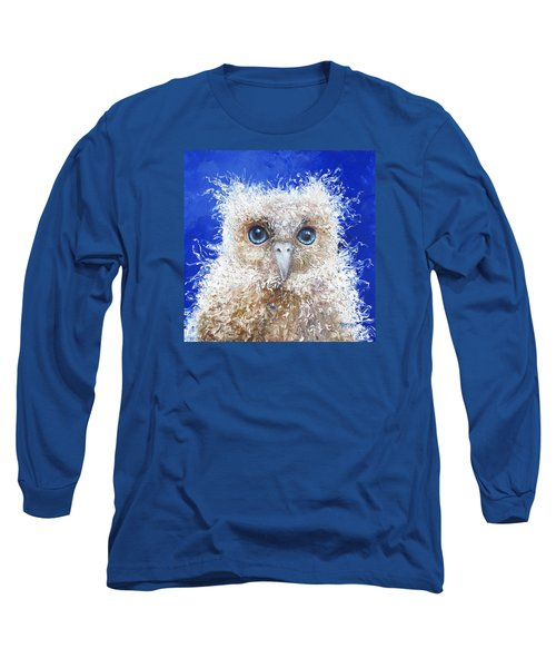 Blue Eyed Owl Painting Long Sleeve T-Shirt