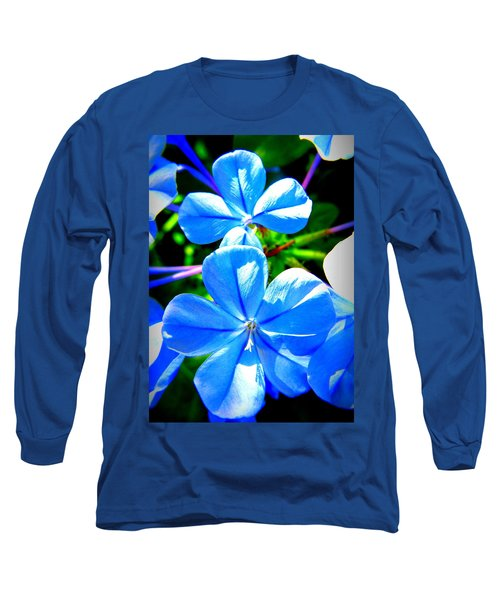 Long Sleeve T-Shirt featuring the photograph Blue Flower by David Mckinney