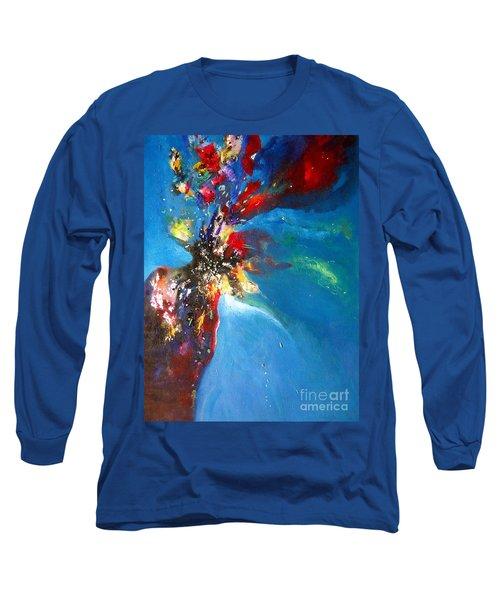 Blue Harmony  Long Sleeve T-Shirt by Sanjay Punekar