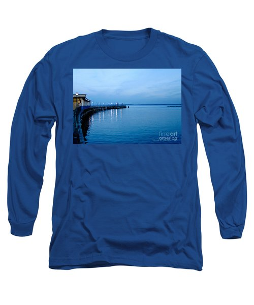Blue Light Horizon Long Sleeve T-Shirt by Carol F Austin