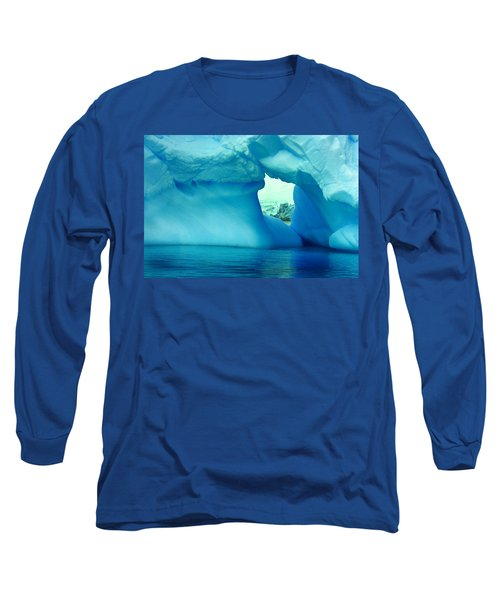 Blue Iceberg Antarctica Long Sleeve T-Shirt by Amanda Stadther