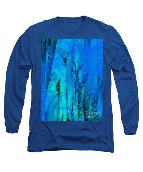 Long Sleeve T-Shirt featuring the painting Feeling Blue by Yul Olaivar