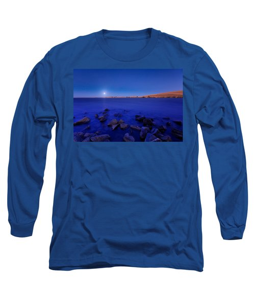Blue Moon On The Rocks Long Sleeve T-Shirt