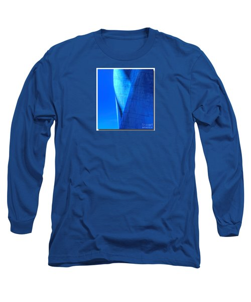 Long Sleeve T-Shirt featuring the photograph Blue On Blue Cropped Version by Chris Anderson