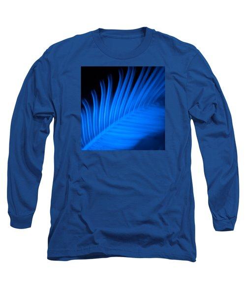 Long Sleeve T-Shirt featuring the photograph Blue Palm by Darryl Dalton