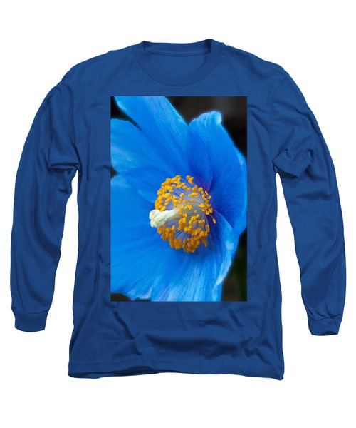Blue Poppy Long Sleeve T-Shirt