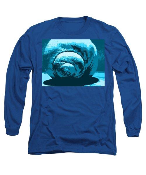 Blue Shell - Sea - Ocean Long Sleeve T-Shirt
