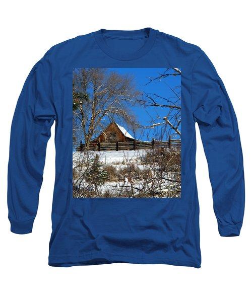 Blue Sky Long Sleeve T-Shirt by Loni Collins