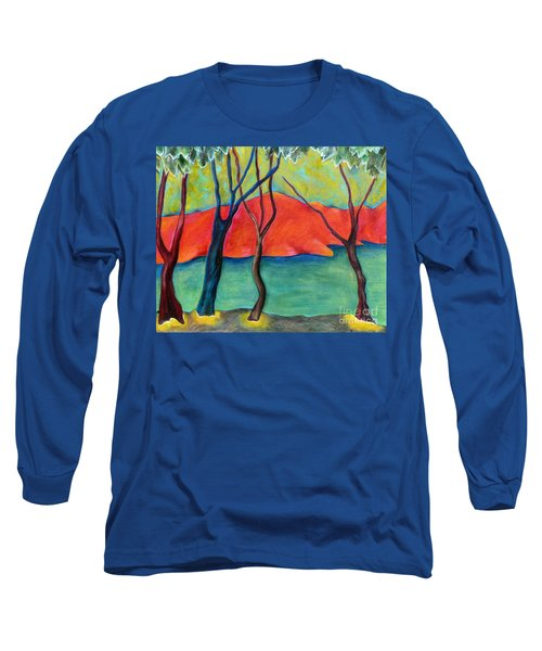 Blue Tree 2 Long Sleeve T-Shirt by Elizabeth Fontaine-Barr