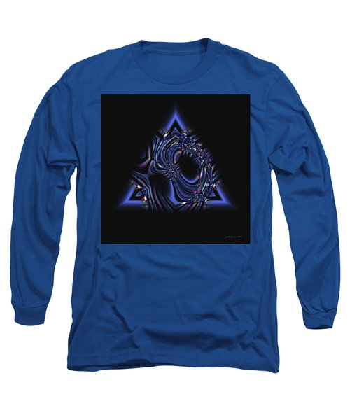 Blue Triangle Jewel Abstract Long Sleeve T-Shirt