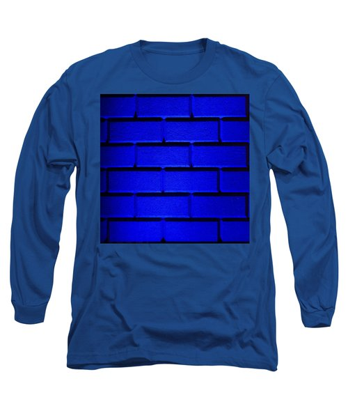 Blue Wall Long Sleeve T-Shirt by Semmick Photo