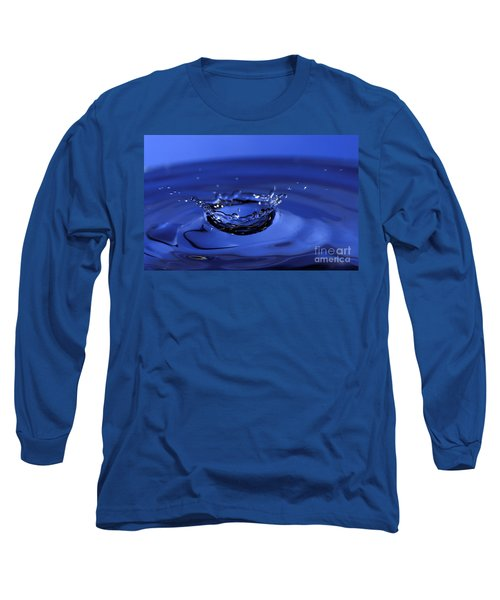 Blue Water Splash Long Sleeve T-Shirt
