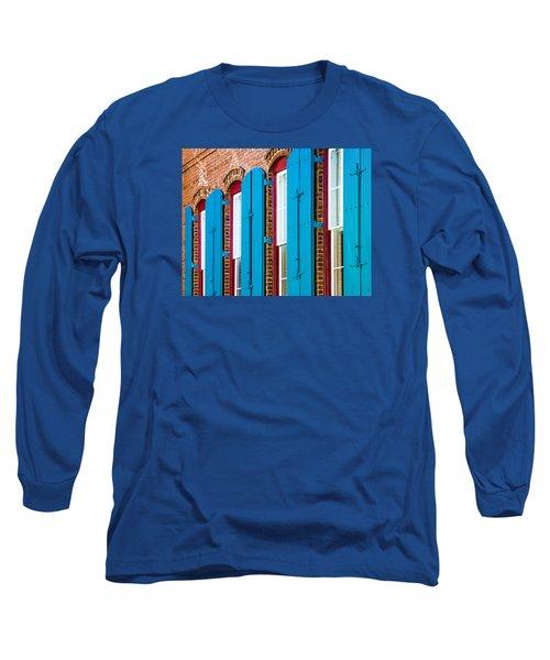 Blue Windows Long Sleeve T-Shirt by Carolyn Marshall