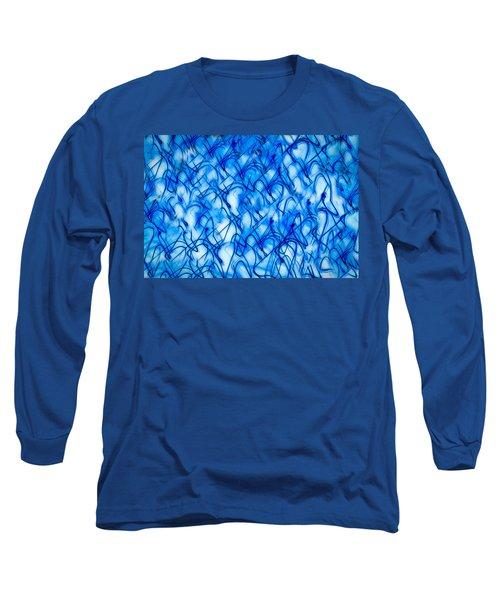 Blue Wispy Long Sleeve T-Shirt by Don Gradner