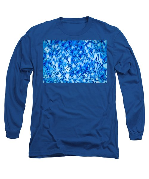 Blue Wispy Long Sleeve T-Shirt