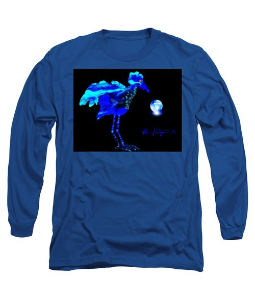 Long Sleeve T-Shirt featuring the painting Bluebird Watching by Hartmut Jager