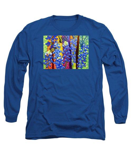Bluebonnet Garden Long Sleeve T-Shirt