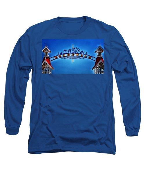 Boardwalk Arch In Ocean City Long Sleeve T-Shirt